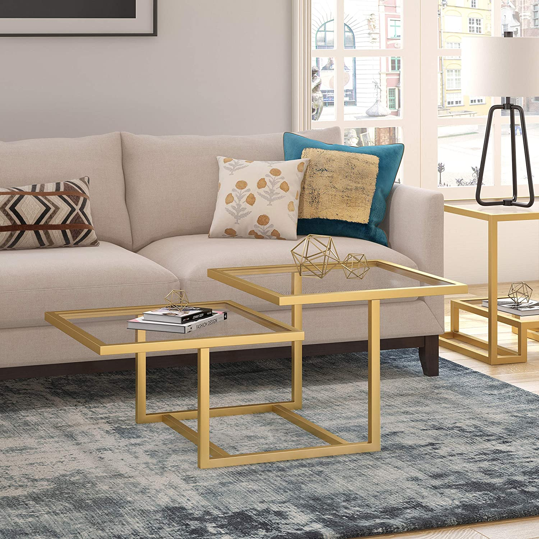 Henn&Hart Modern Chic 2-Tier Coffee Table