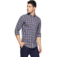 Amazon Brand - House & Shields Men's Checkered Casual Shirt