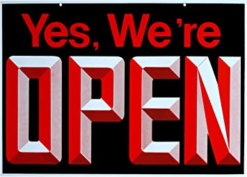 Amazon.com: abiertos – Cerrado Big Reversible de doble cara ...