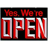 Open - Closed Big Double Sided Reversible Sign Hanging Display 19 x 13