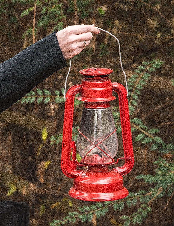 Red Stansport Small Hurricane Lantern