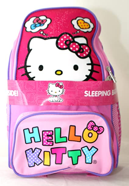 d2b0b3549 Amazon.com: Hello Kitty 2 Piece Backpack with Sleeping Bag - 2014 Design:  Home & Kitchen