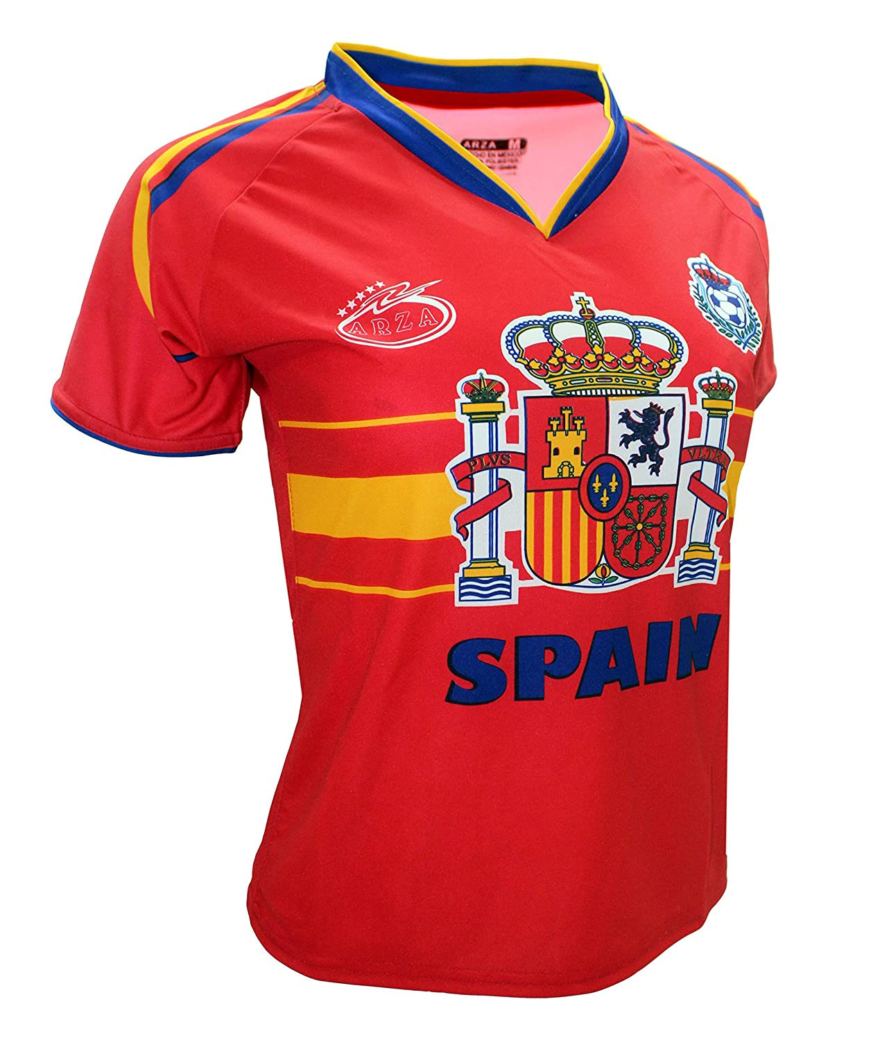 281ed67baa7 Amazon.com: Spain Women Arza Soccer Jersey 100% Polyester. Color Red and  White: Sports & Outdoors