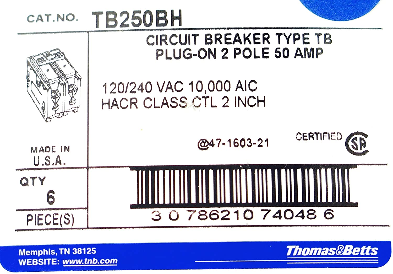 Tb250bh 2p 50a Plug In Thomas Betts Circuit Breaker Types Video Different Of Breakers Ehow
