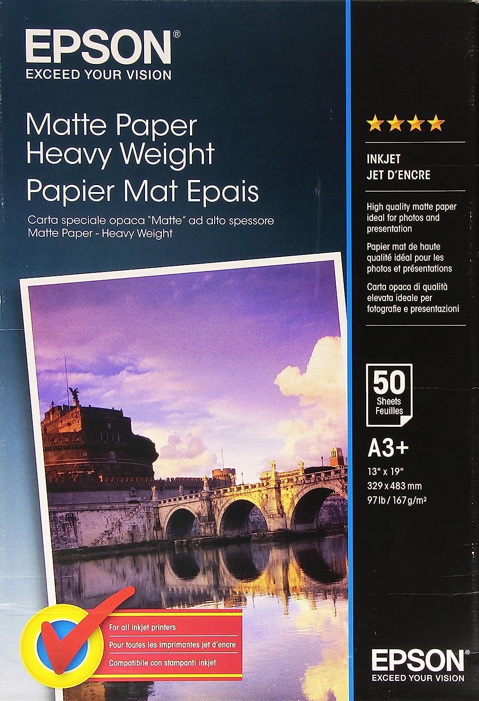 Epson Matte Heavyweight Paper Inktjet 167g M2 A3 Pack Of 50 Sheets Bürobedarf Schreibwaren