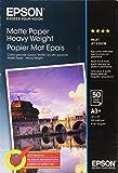 EPSON Matte heavyweight paper inktjet 167g/m2 A3+ (Pack of 50 sheets)