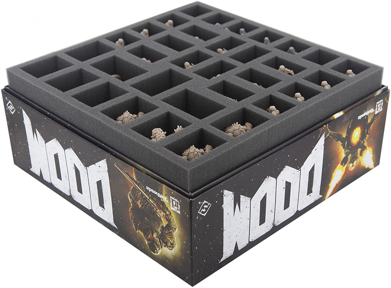Foam tray value set for DOOM the board game