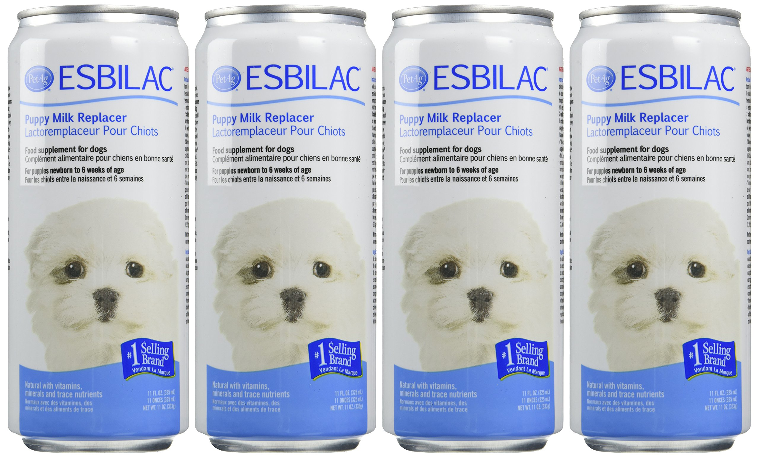 (4 Pack) Esbilac Liquid for Puppies, Milk Replacer - 11 Ounces each