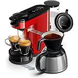 Philips HD6592/81 Machine à café SENSEO Switch 2 en 1 Rouge (machine à dosettes + machine à café filtre)