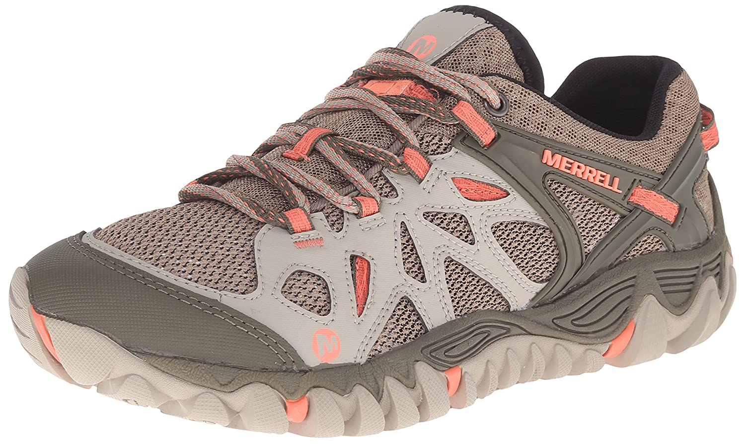 Merrell Women's All Out Blaze Aero Sport Hiking Water Shoe B00YBGRTB2 9 B(M) US|Beige/Khaki