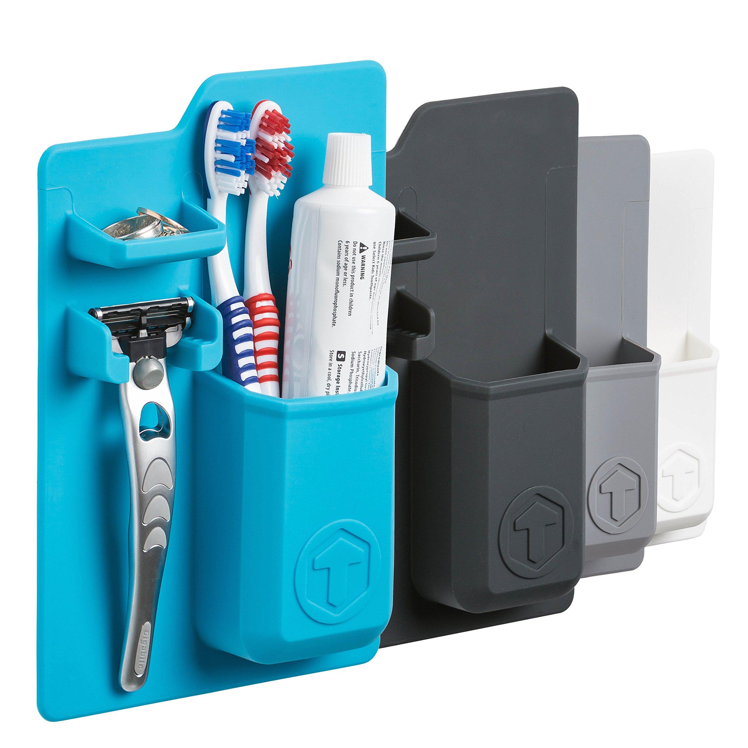 iDLEHANDS Silicone Toothbrush Holder - Bathroom Storage Organizer ...
