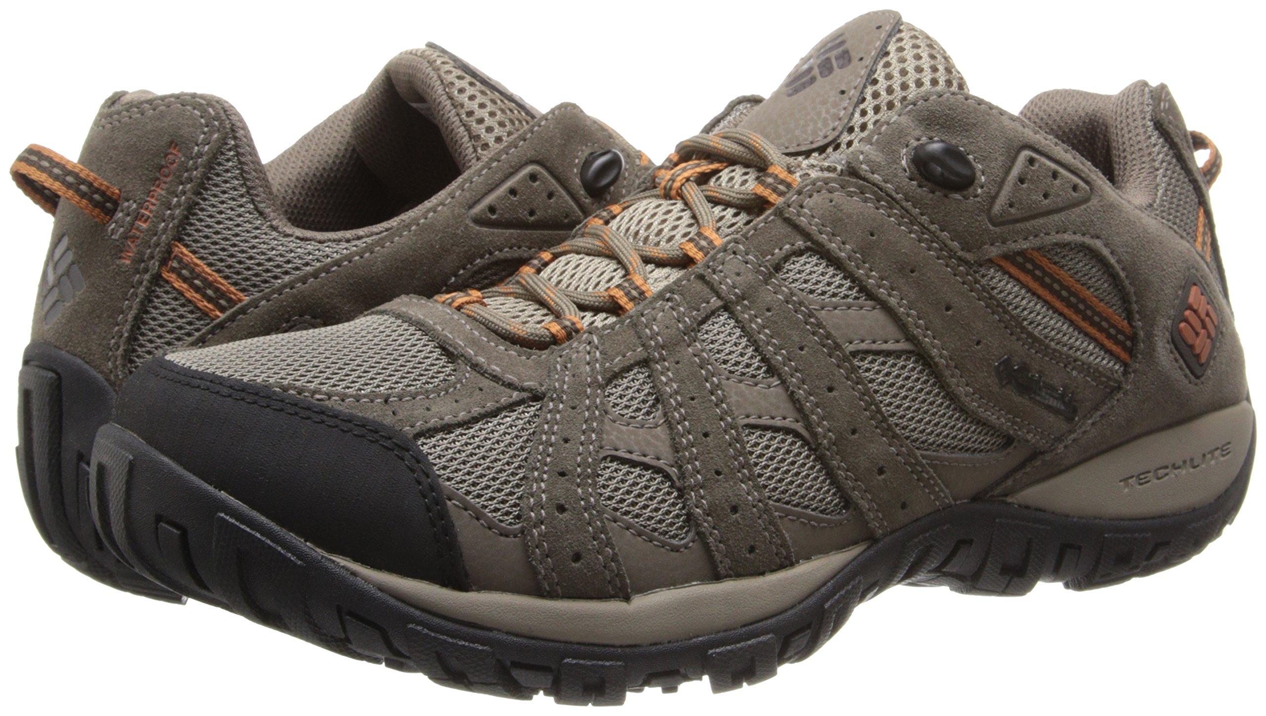 Columbia Men's Redmond Waterproof Hiking Shoe Pebble, Dark Ginger 7 D US by Columbia (Image #6)