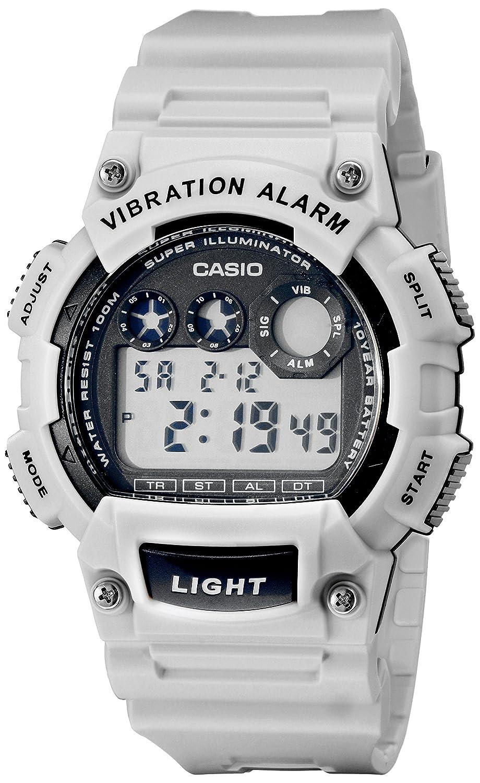 Casio Mens W-735H-8A2VCF Vibration Alarm Digital Watch