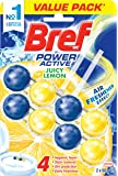 Bref Power Active Juicy Lemon, Rim Block Toilet Cleaner, 2x50g, Lemon