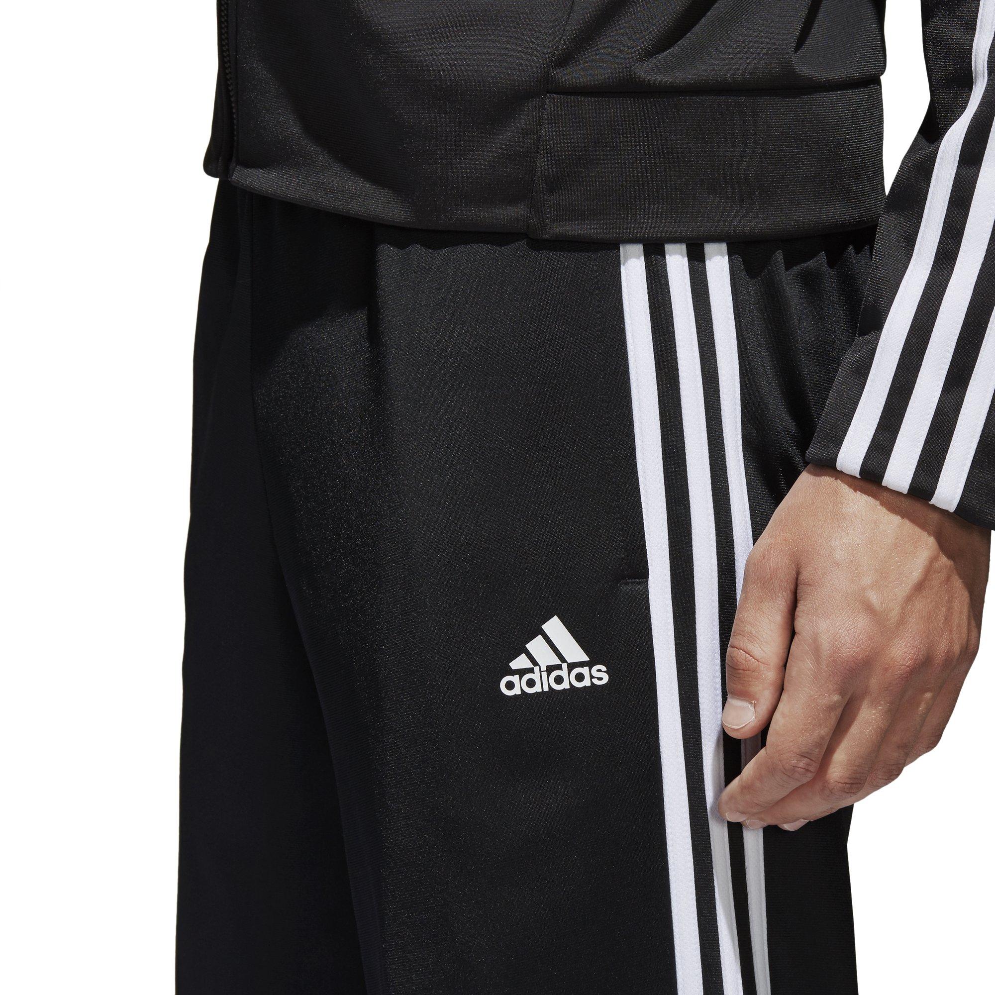 adidas Men's Athletics Essential Tricot 3-Stripe Pants, Black/White, Small by adidas (Image #7)