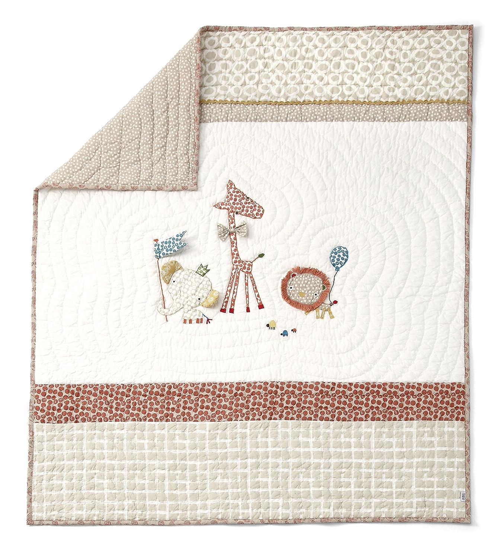 Mamas & Papas Zam Bee Zee Cotbed Coverlet, Nursery Bedding 7056U0300