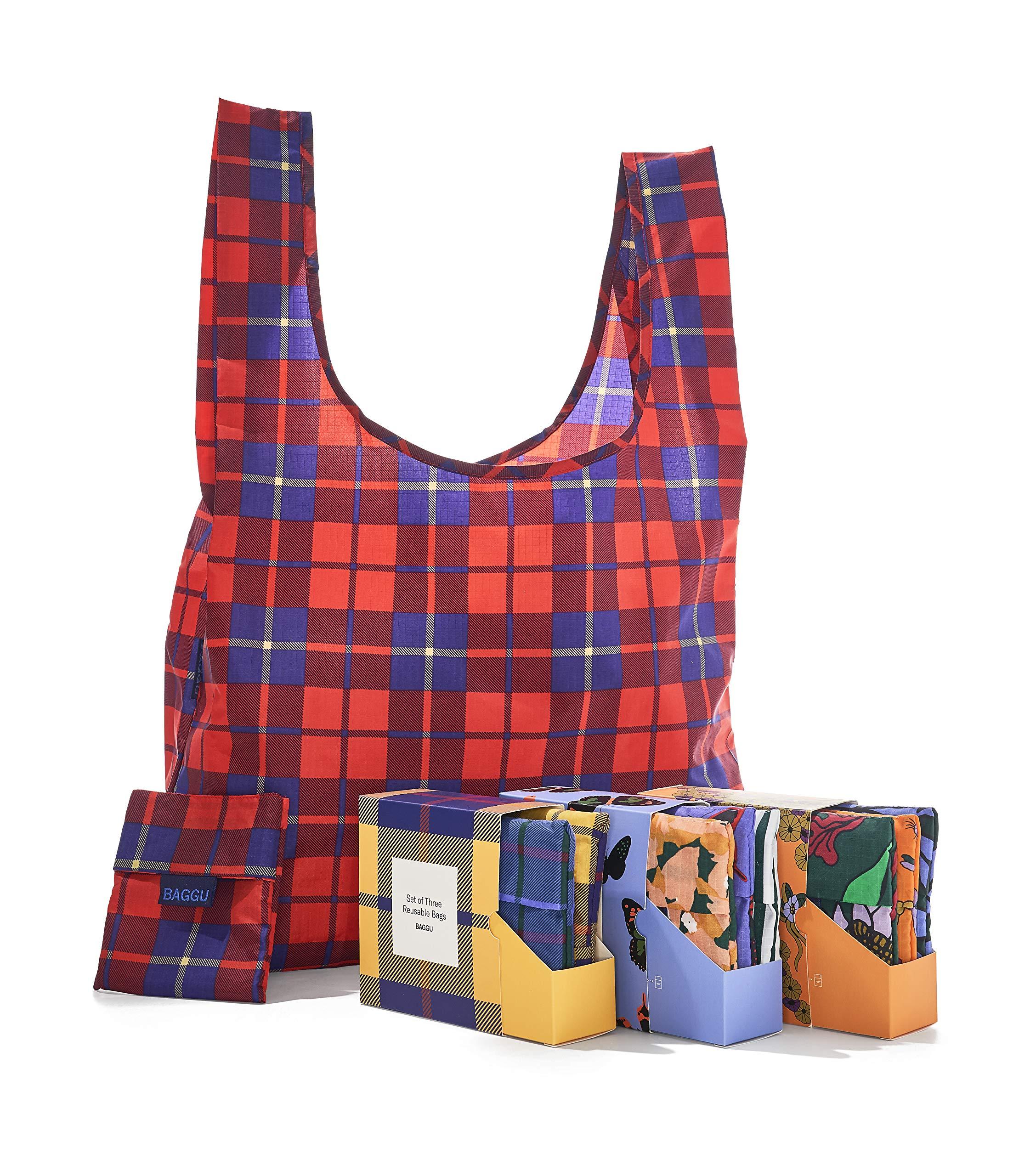 BAGGU Standard Reusable Shopping Bag, Ripstop Nylon Grocery Tote or Lunch Bag, Bronze