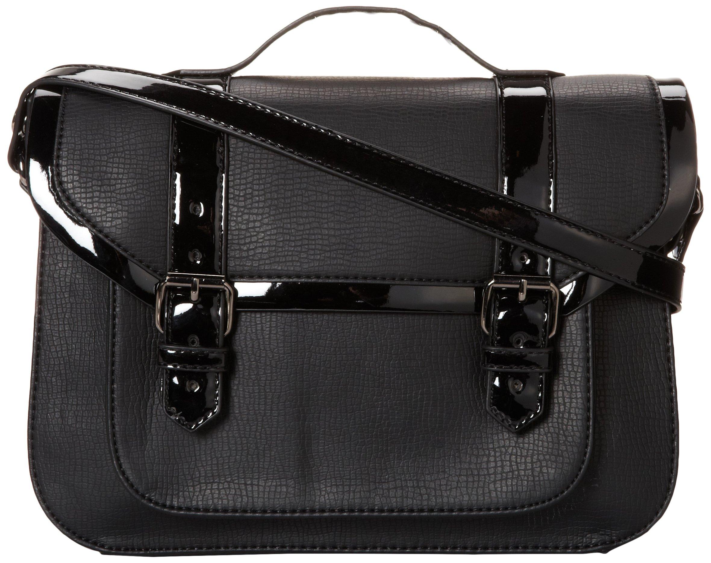 BCBGeneration Carmen Patent Le Carine Roitfeld 256GN Backpack,Black,One Size