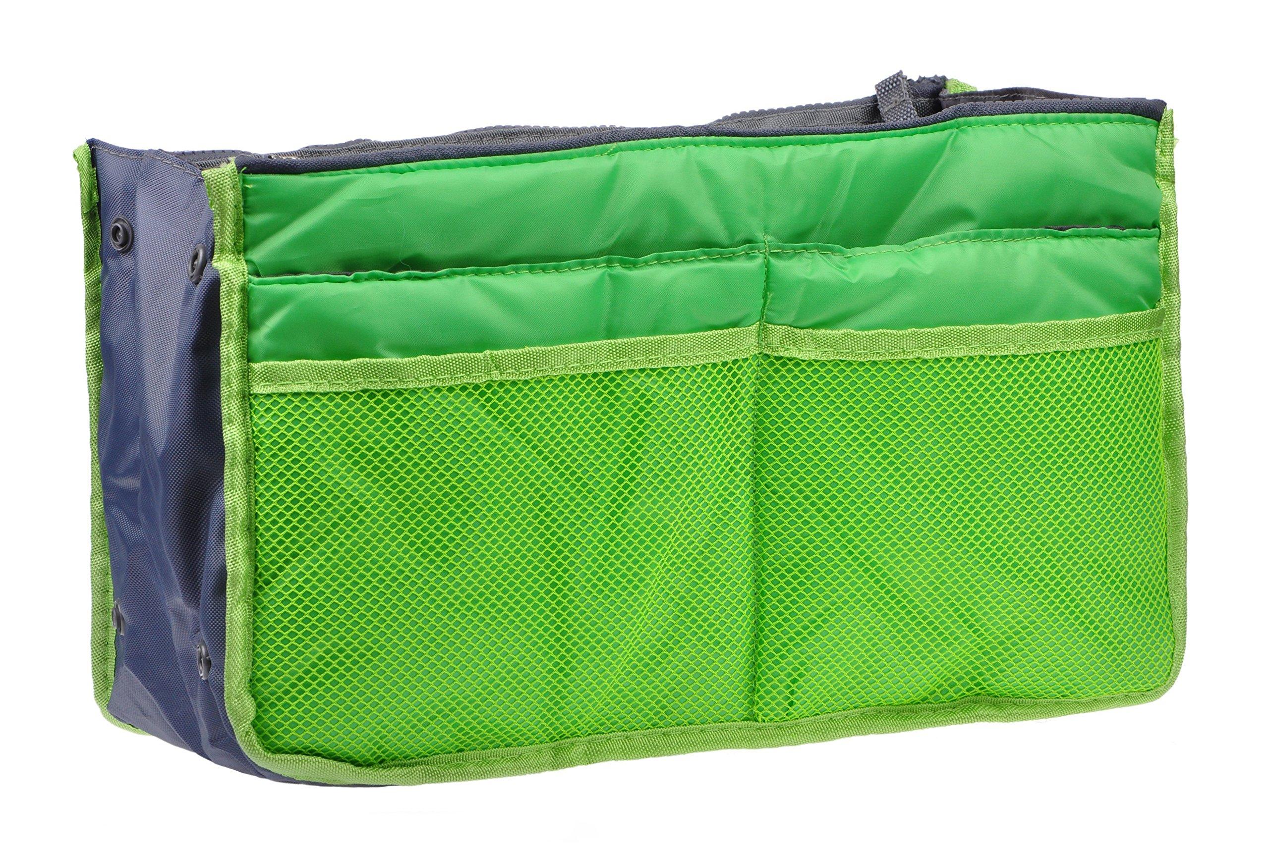 Insert Handbag Purse Travel Organizer Bag Multi-pocket Tidy Bags For Multipurpose (green)
