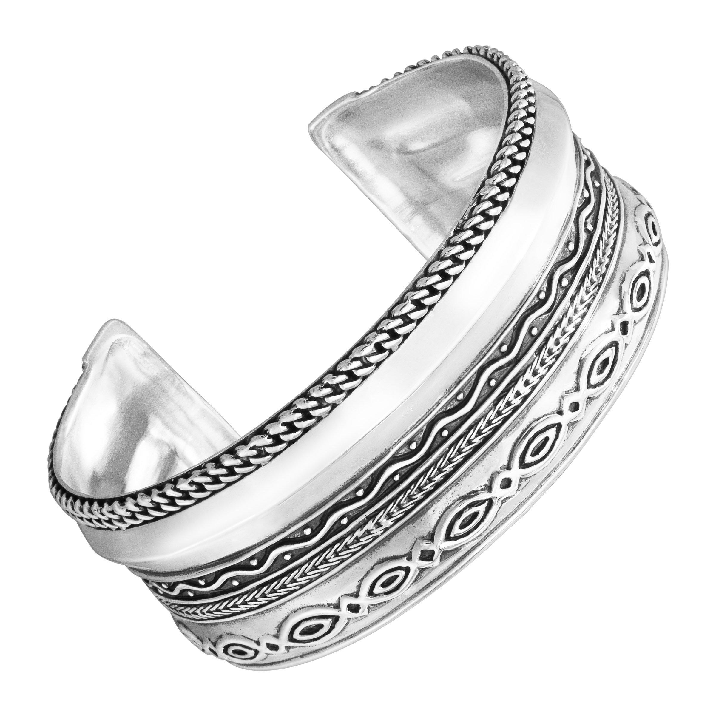 Silpada 'Multi Pattern' Sterling Silver Cuff Bracelet, 6.75''