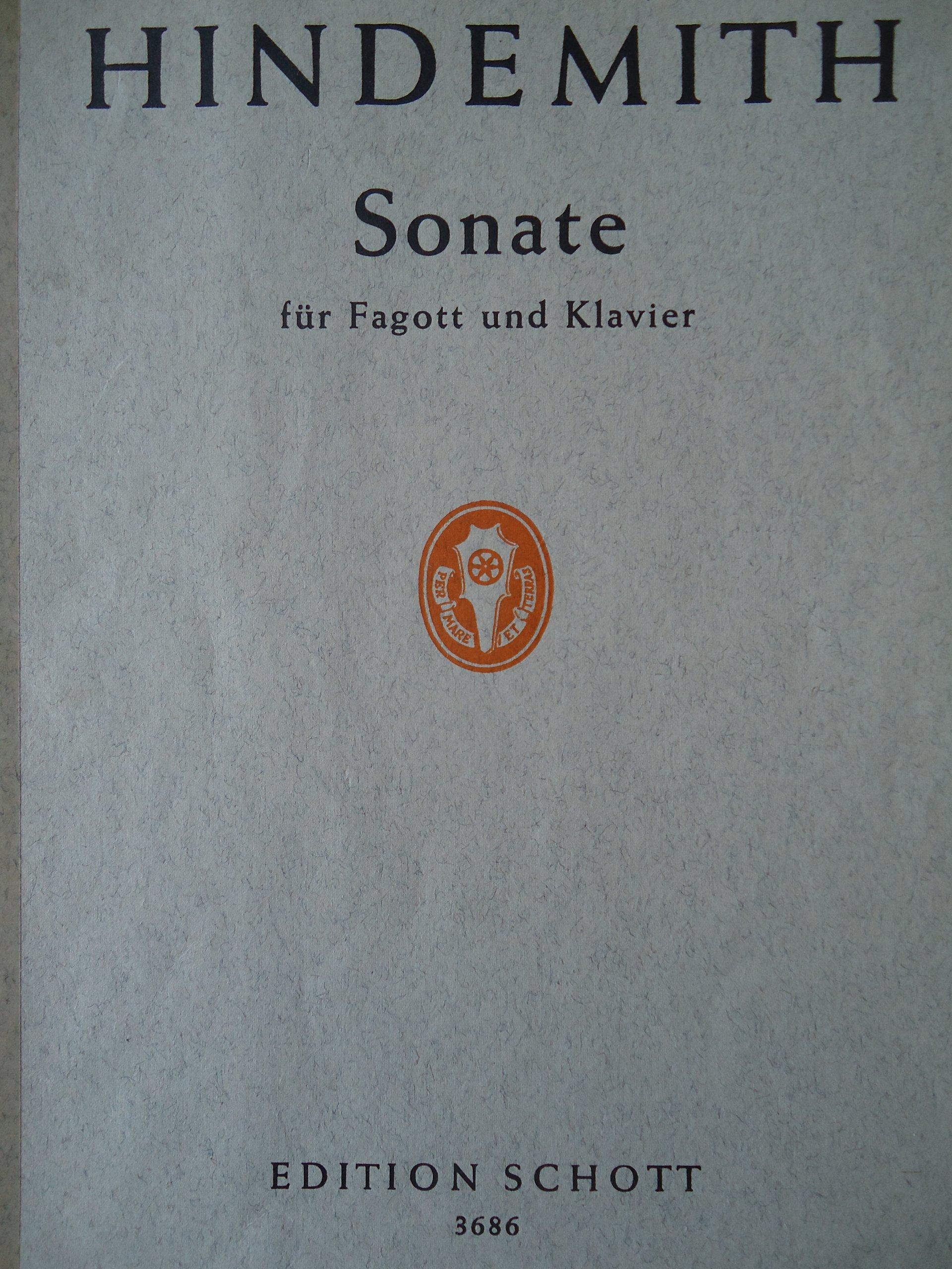 Sonate fur Fagott und Klavier (Sonata for Bassoon & Piano)