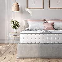 Classic Brands Decker Hybrid Memory Foam and Innerspring 10-Inch Mattress, Twin, White