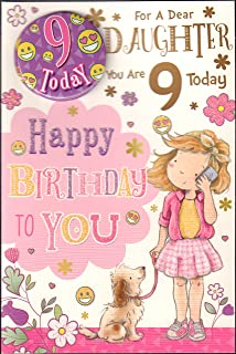 Daughter 9th Birthday Card With Badge