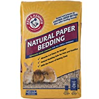 Arm & Hammer for Pets Natural Paper Bedding for Guinea Pigs, Hamsters, Rabbits & All Small Animals-Expandable Paper…