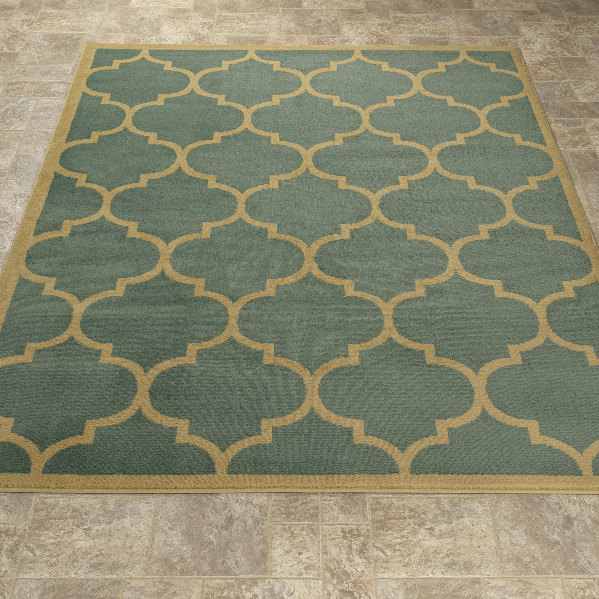 Sweet Home Stores Clifton Collection Moroccan Trellis Design Area Rug, 7'10'' X 9'10'', Seafoam by Sweet Home Stores (Image #3)