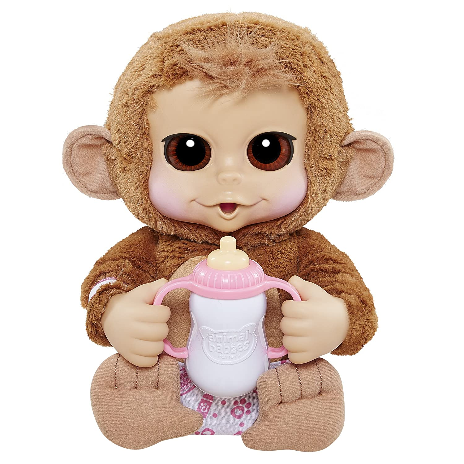 Amazon Animal Babies Deluxe Baby Chimpanzee Plush Toys & Games