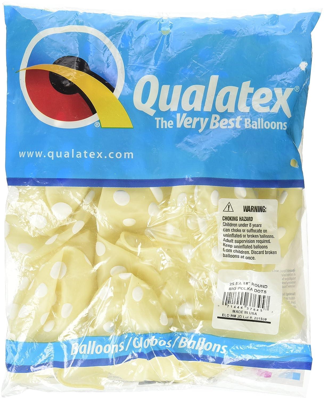"""compra en línea hoy Gran de lunares Qualatex 18 """"transparente globos x 25 25 25 – relleno o relleno de aire  marca en liquidación de venta"""