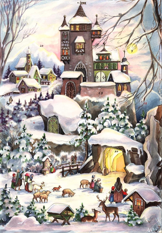 """Adventskalender""""Weihnachten bei der Burg"""": Papier-Adventskalender Sellmer Verlag Richard Sellmer Verlag 77 empfohlenes Alter: ab 4 Jahre"""