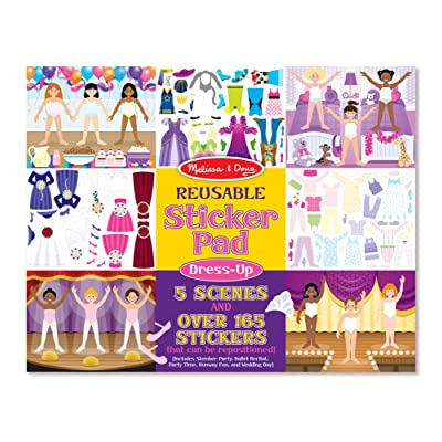 Melissa & Doug Dress-Up Reusable Sticker Pad: Melissa & Doug: Toys & Games
