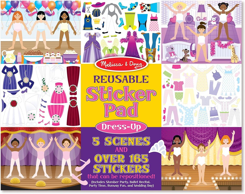 3 x Barbie Sticker Fun 5 Sheets each of Reusable Stickers kids Girls Gift