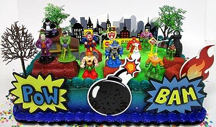 Sensational Amazon Com Cake Toppers Dc Comic Super Friends Birthday Set Funny Birthday Cards Online Kookostrdamsfinfo