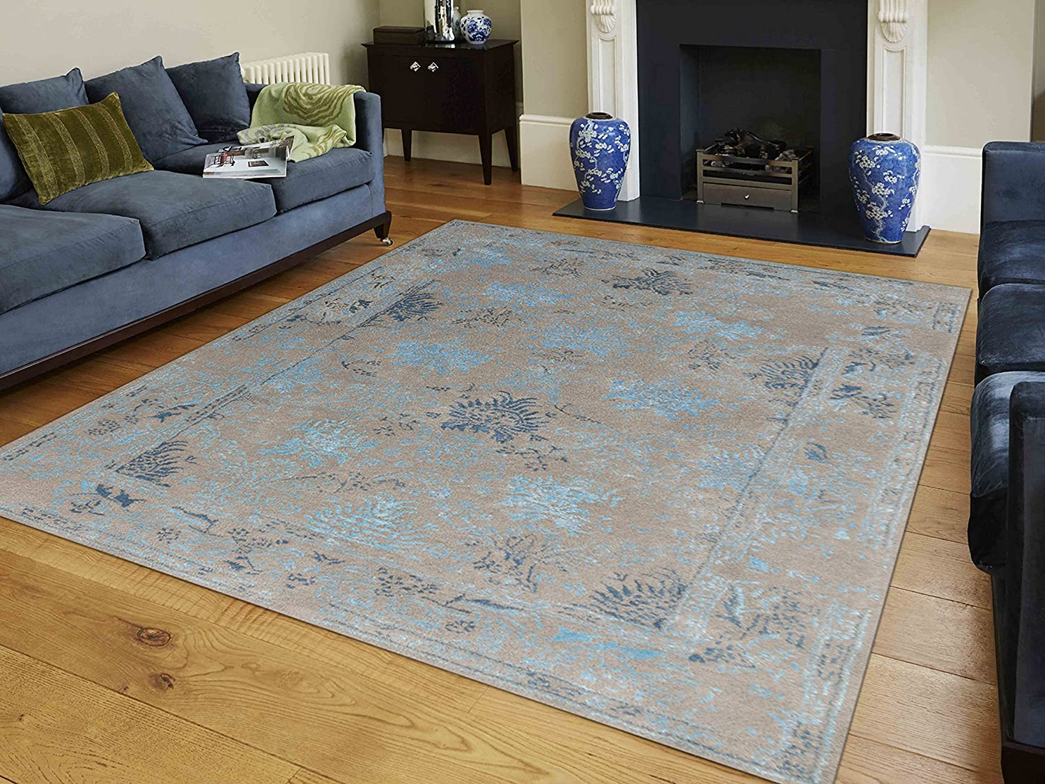 AMER Artist 12 Hand-Tufted Accent Rug Silver-Blue 2x3