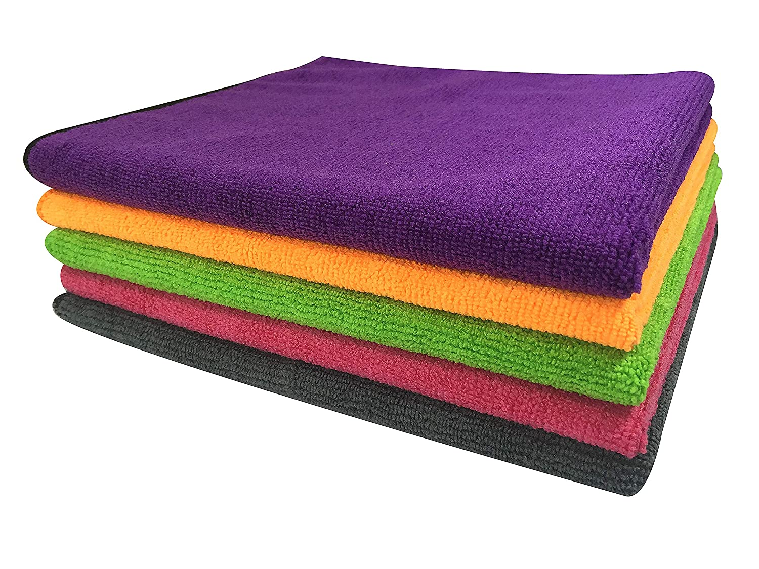 SOFTSPUN Microfiber Car Cleaning Cloth (Pack of 5) for
