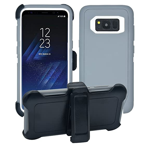 sale retailer 064ab d49b1 AlphaCell Cover Compatible with Samsung Galaxy S8 | Holster Case Series |  Military Grade Protection with Carrying Belt Clip | Protective Drop-proof  ...