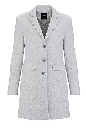 Zero Damen Jacke Mantel MALLAURY, Farbe: Hellgrau, Größe: 44: Amazon ...