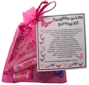 SMILE GIFTS UK Daughter In Law Survival Kit Gift Great Present For Wedding Birthday Christmas Or Just Because Amazoncouk Office Products