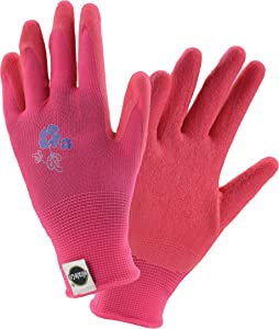 West Chester Miracle-Gro MG37168 Stretch Knit Gardening Gloves with Latex Coated Palm: Women's X-Small, 1 Pair
