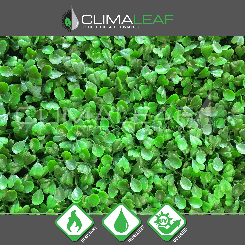 Geranium Street Floral 10 Count, Artificial UV Light Green Hedge Mat, 20'' L X 20'' W or 2.5 sq. ft. by Geranium Street Floral