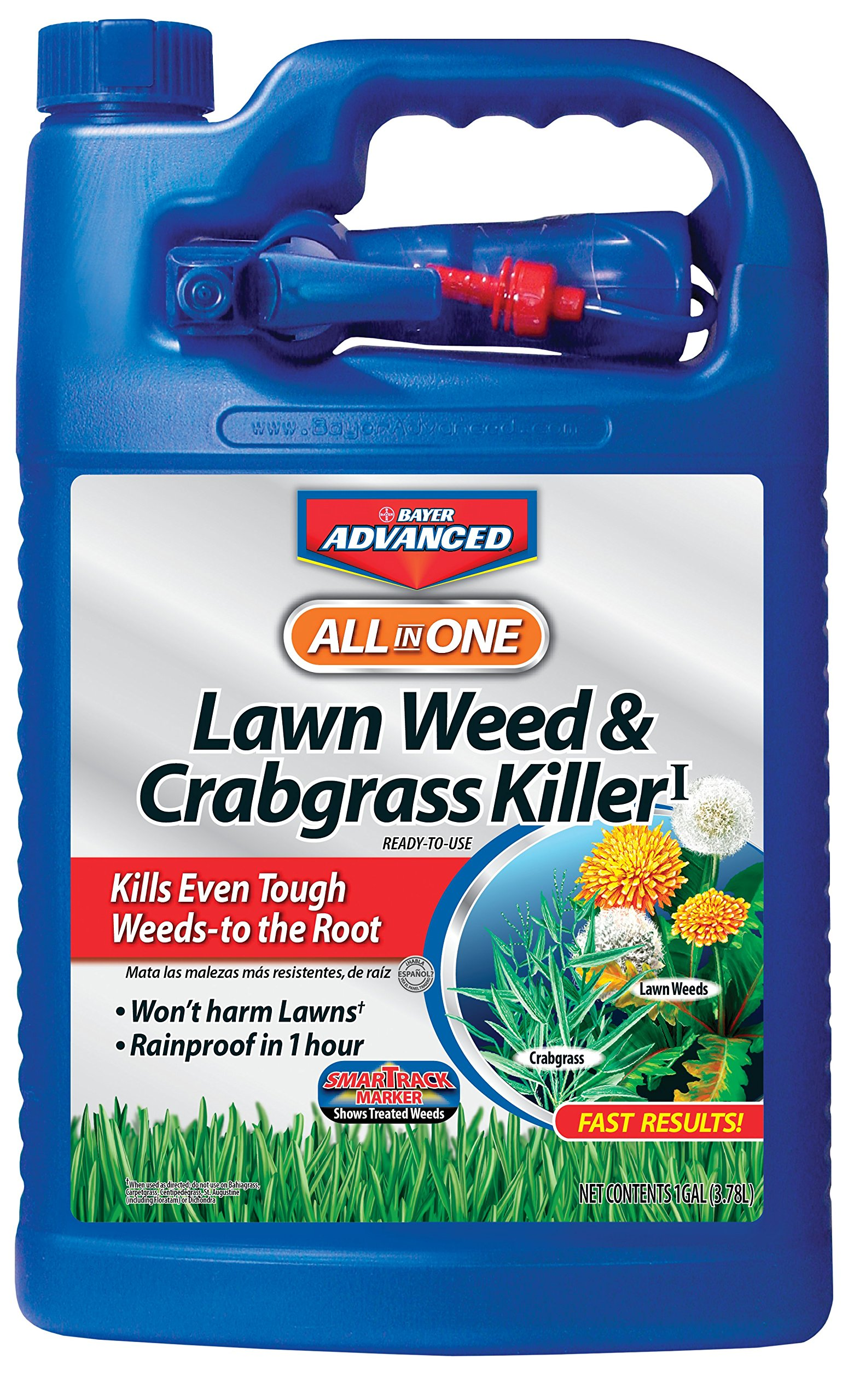 Bayer Advanced 704130 All-in-One Lawn Weed and Crabgrass Killer Ready-To-Use, 1-Gallon by Bayer Advanced