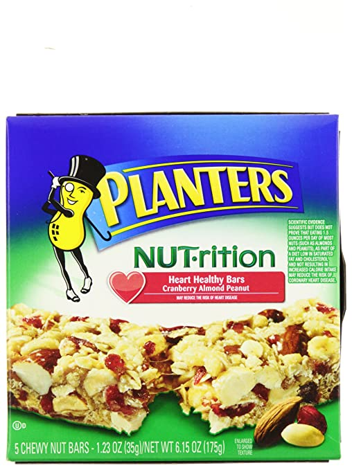 Amazon.com: Planters NUT-rition Bar, Healthy, 5-Count Bars ... on