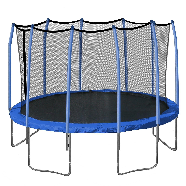 amazon com aura round trampoline and enclosure with blue spring