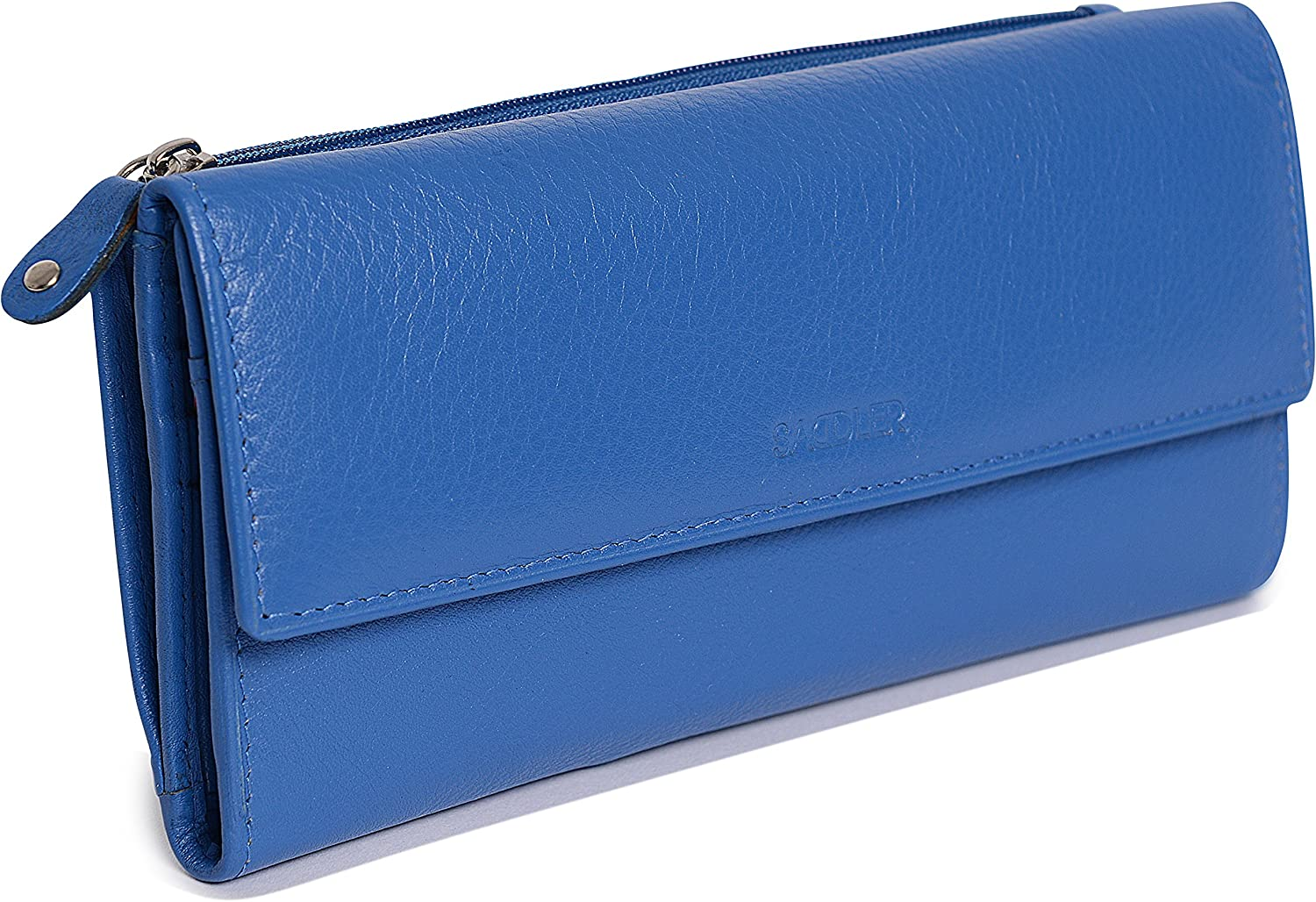 SADDLER Womens Luxurious Real Leather Trifold Wallet Purse Clutch | Gift Boxed