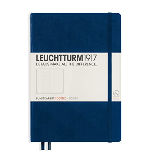 LEUCHTTURM1917 342925 Notebook Medium (A5), 249 numbered pages, dotted, navy
