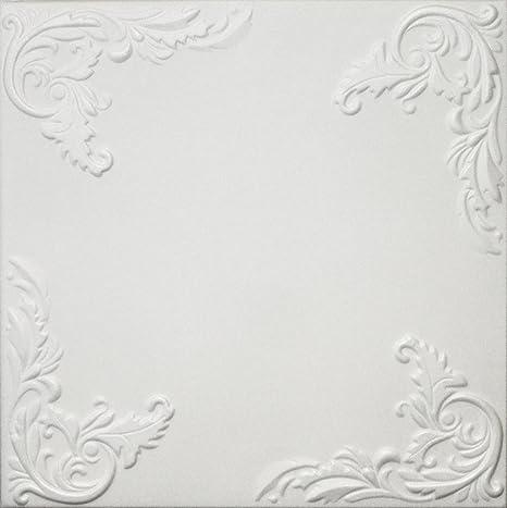 Amazon Com Diy Styrofoam Glue Up Ceiling Tiles White 20x20