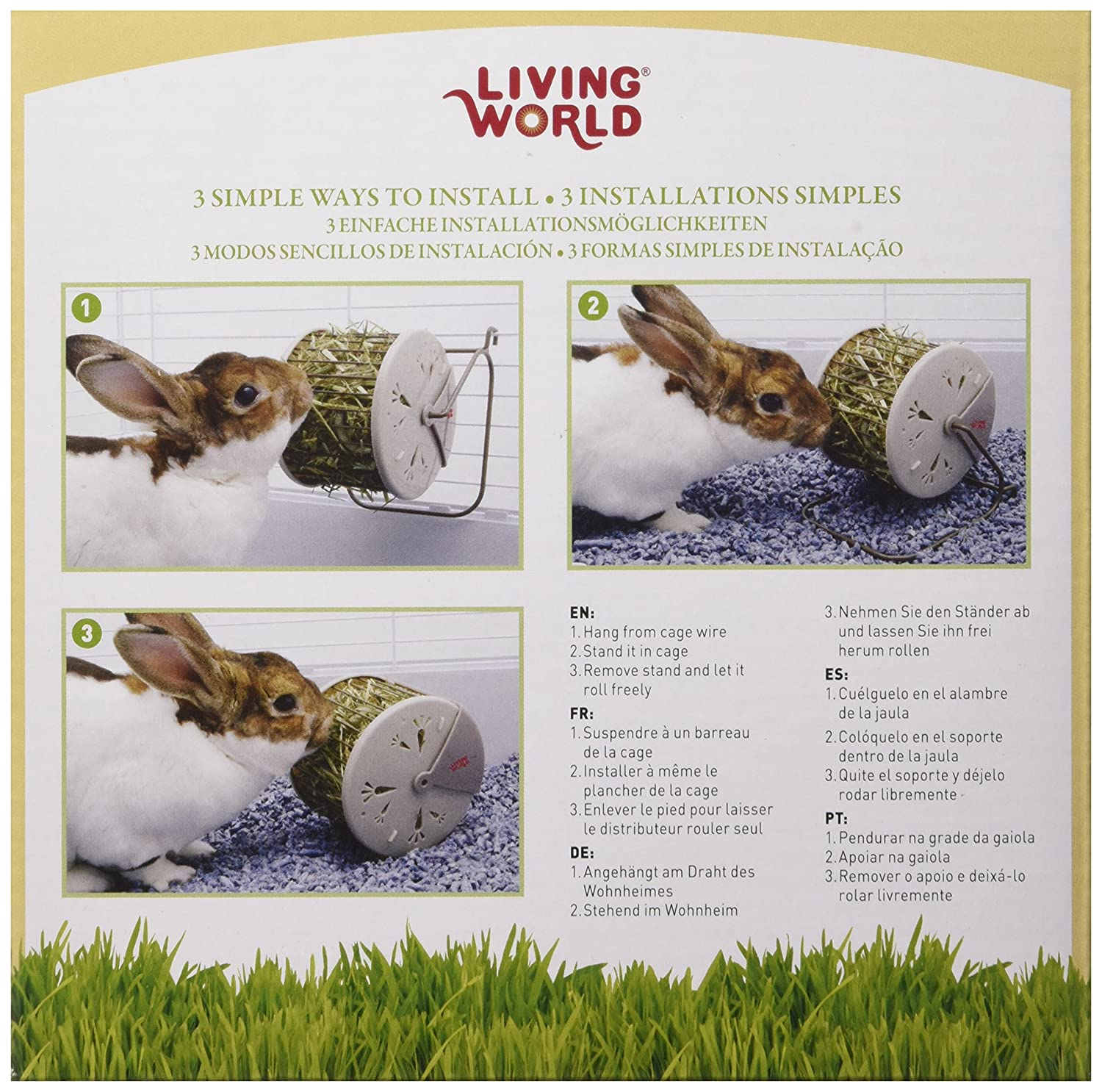 Amazon.com : Living World Hay Feeding Station for Pets : Natural ...