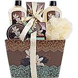 "Spa Basket for Women w/Refreshing ""Seductive Vanilla"" Fragrance by Draizee- #1 Best Gift for Valentine – Luxury Bath & Body S"